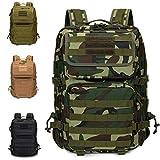 Armybag | Wasserdichter Outdoor Rucksack Camouflage | 45-47 Liter Volumen | Militär Rucksäcke | Camping & Wanderrucksack | Rucksack Herren & Damen groß |