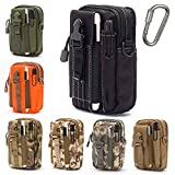 Lightbare Tactical Molle Pouch Multipurpose EDC Waist Bag Pack, Outdoor Men Compact Gadget Utility Belt with Cell Phone Holster Holder