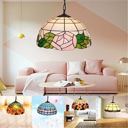 Plafondlamp Home lamp moderne moderne kristallen kroonluchter American restaurant slaapkamer woonkamer single Crystal glas plafondlamp groothandel (grootte: Blue Feather)