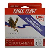 Best Eagle Claw Monofilament Fishing Lines - Eagle Claw Premium Clear Blue Fluorescent Monofilament 4lb Review