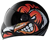 Full Face Graphic Helmet High Impact ABS Material Shell. Breathable Pedding with Neck Protector and Extra Comfort for long Drives Italian Design and Hygienic Interior with Multi pore for better Ventilation During Hot Weather. Quick Release Micro Metr...