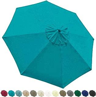 EliteShade 9ft Patio Umbrella Market Table Outdoor Deck Umbrella Replacement Canopy (Turquoise)