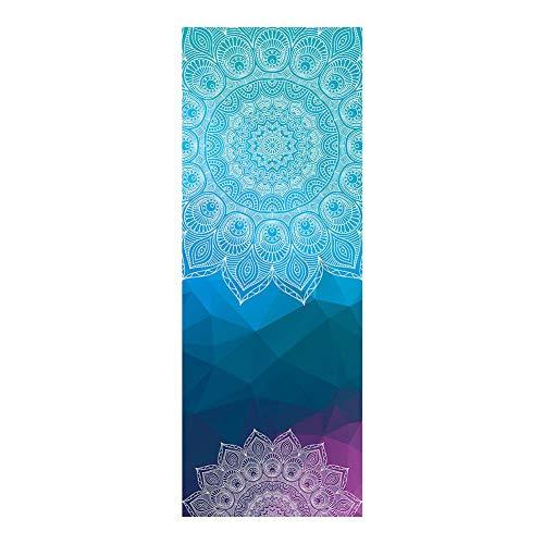 WHFY - Esterilla de yoga antideslizante de caucho natural, manta de fitness, suave perfecta, de microfibra sin esquí, doble cara, antideslizante, absorbe el sudor, 63 x 183 cm (2#)