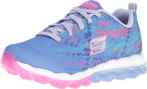 Skechers Skechers Kids Girls' Skech-Air-Jumparound Running Shoe, Blue/Multi Knit, 13.5 M US Little Kid