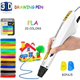 Jiamus 3D Stifte +20 verschiedenen Farben+60m PLA-Filament