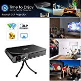 Pocket Pico WiFi 3D DLP Projector HD Mini Portable Outdoor Home Theater LED...