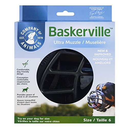 Baskerville Ultra Muzzle, Black, Size 6