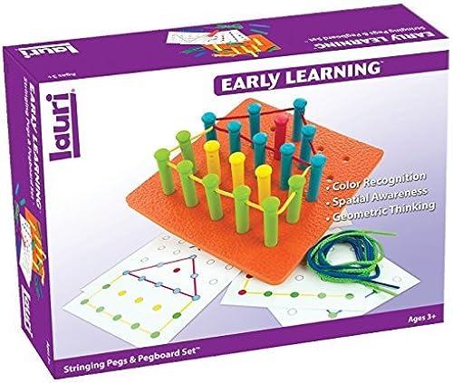 marcas de moda Lauri Toys Stringing Pegs and Pegboard Set by Lauri Lauri Lauri  descuento de bajo precio