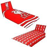 Liverpool FC - Juego de Cama diseño Pulse del Equipo de fútbol (Individual) (Rojo/Blanco)