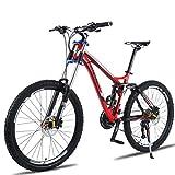 Tbagem-Yjr Semi-Rigide VTT, 26 Pouces Vélo Tout-Terrain À Vitesse Variable en Alliage D'aluminium (Color : Red, Size : 24 Speed)