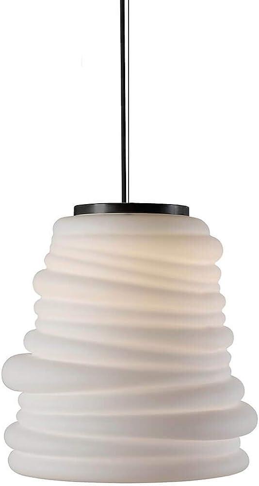 Karman bibendum led, lampada a sospensione Ø30 cm, con paralume in vetro bianco satinato SE198CD INT