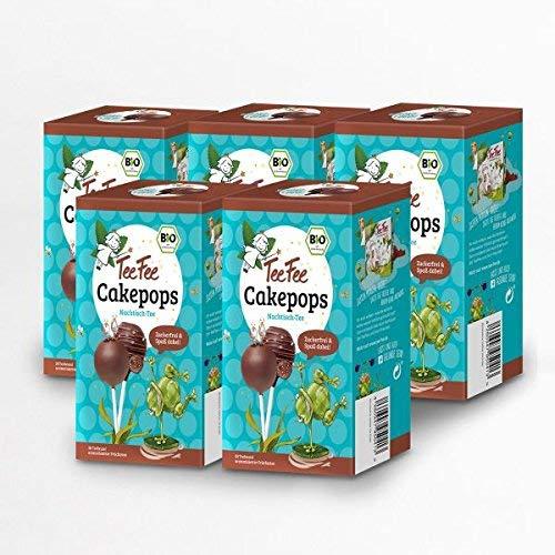 TeeFee Bio Früchtetee mit Cakepop Geschmack, 5er Pack ( 5 x 20 Teebeutel 1,5g ), zuckerfrei und ohne Kalorien, Nachtisch-Tee
