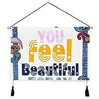 MISCERY タペストリー、スローガン素敵なグラフィックデザインかわいい花、壁掛けタペストリー壁画 壁飾り 家 リビングルーム ベッドルーム 部屋 おしゃれ飾り モダンなアート