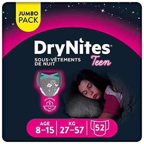 Huggies - Biancheria intima da notte DryNites, usa e getta, per bambine