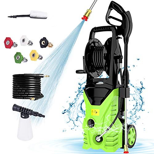 Homdox 2950PSI Pressure Washer 1.7GPM 1800W Cleaner Machine with Power Nozzle Gun,Soap Tank,Metal Screwdriver for Water Pipe Connection