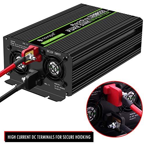 YHDQ Car Power Inverter Inverter-vom reinen Sinus-Wellen-1500 Watt 12V DC bis 230V / 240V AC-Umrichter-2AC Outlets Auto-Inverter mit Einer USB Car Power Inverter
