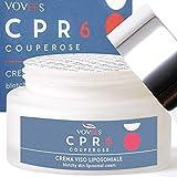 VOVEES CPR6 Couperose Anti-Rötung Gesichtscreme mit 6 natürlichen bioaktiven Inhaltsstoffen für Tag und Nacht 50 ml