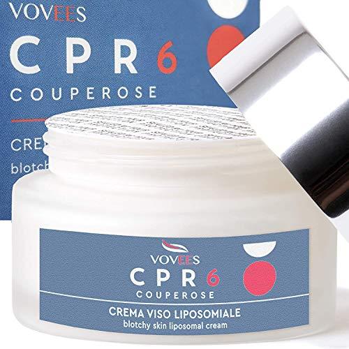 VOVEES CPR6 Crema Viso Couperose Rosacea con 6...