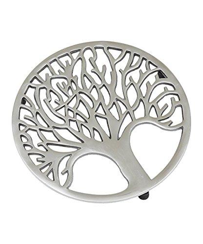 Design Imports Tree of Life Silver Trivet