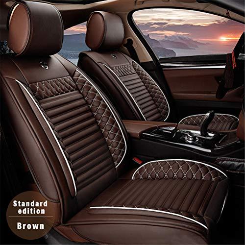 DBL Coprisedili in Pelle Auto per Mercedes-Benz A-Class B-Class C-Class GLE GLK GLS SL SLC SLK Pelle 5 Posti Set Anteriori E Posteriori Beige