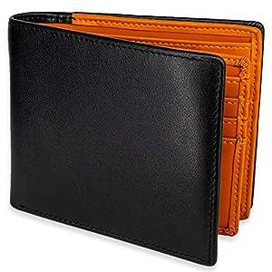 【Amazon限定ブランド】TLAGE 二つ折り 財布 カード18枚収納 大容量 小銭入れ 本革 メンズ (ブラウン)