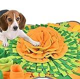 BUYGOO Hunde Schnüffelteppich Faltbar Schnüffeldecke für Hunde - 71x72cm Hunde Schnüffelspielzeug Schnüffelrasen, langlebig schadstofffrei Hundespielzeug schnüffeln fördert natürliche Nahrungssuche