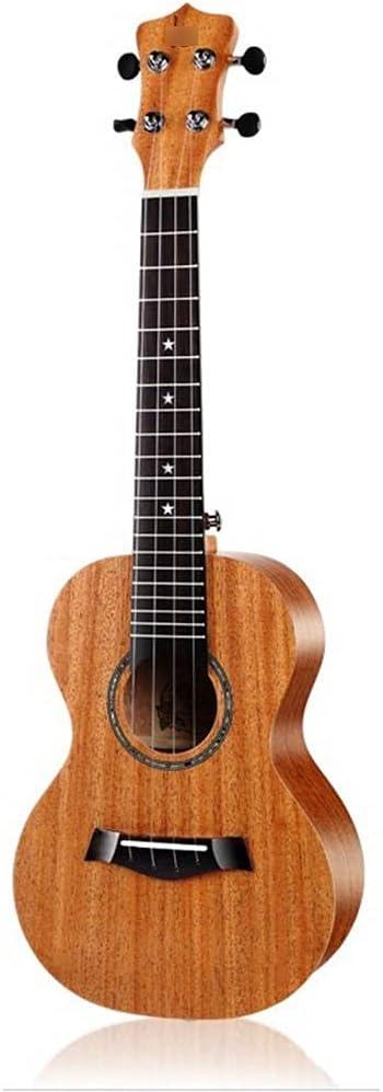 YYFANG Guitarra Acústica, Ukulele Guitarra Pequeña De 23 Pulgadas Rueda De Boca con Incrustaciones De Arte De Madera De Tótem De Arco Iris para Principiantes Niñas Niños Mujeres Y Hombres