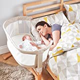 PurFlo Baby Newborn KEEP ME CLOSE Breathable Bedside Sleeping Crib in Natural