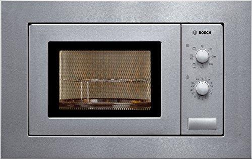Bosch Serie 2 HMT72G650 - Microondas integrable, 364 x 453 x 320 mm, Potencia 800 W, Con grill de 1.000W, 17 litros de capacidad, Acero inoxidable