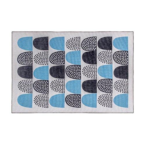 KTYXGKL Alfombra rectangular moderna minimalista geometría para sala de estar, sofá, mesa de café, dormitorio, mesita de noche, alfombra azul y gris (tamaño: 120 x 170 cm)