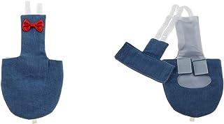 F Fityle バードオムツ 再利用可能な 布おむつ 鳥かご アクセサリー 2個セット