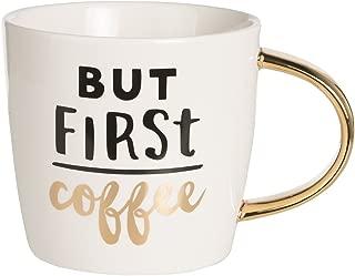 Slant Collection 14 Oz Ceramic Coffee Mug - But First Coffee