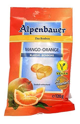 Alpenbauer Klassik - Bonbons Mango - Orange | Vegan, Gluten- und Lactosefrei | 1 x 120g