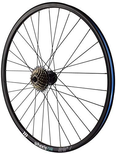 wheelsON 29er Rear Wheel MTB QR Disc + 7 Speed Shimano Freewheel 32H Black