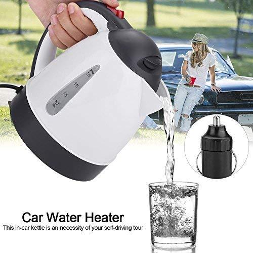 AUNMAS Calentador de Agua portátil Caldera de Agua 1000 ml 24 V Camión de Viaje de camión Hervidor Calentador de Agua Botella para Hacer café té