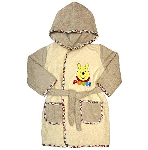 Jungen oder Mädchen Baby- und Kinder-BADEMANTEL mit Winnie The Pooh, Kapuzen, Gürtel, mit Taschen in Grösse 86-92, 98-104, 110-116, BAUMWOLLE, SUPER WEICH, dicke Frottee Größe 110-116, Größe 86-92