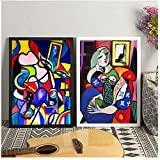 Poster Bilder Set,Picasso Frauen Abstrakte Leinwand