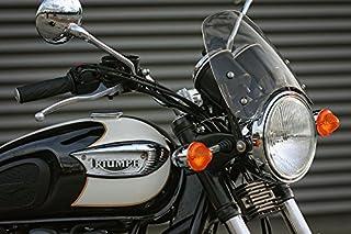 Dart Classic Flyscreen Windshield for Triumph Bonneville/T100 - Midnight Black Tint