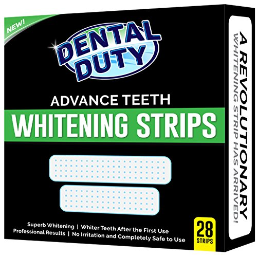 Dental Duty Teeth Whitening Strips - Pack Of 28 - for Upper and Lower Teeth - Best Tooth Whitener...
