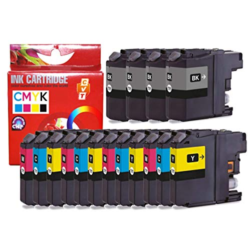 CVT CompraVentaToner - Pack de 16 Cartuchos de Tinta compatibles Brother LC123XL / LC 123 para DCP-J132W DCP-J152W DCP-J172W DCP-J4110DW MFC-J4410DW MFC-J4510DW MFC-J4610DW