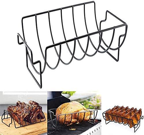 ewrwrwr Rack Grill Hühnchen Rindfleisch Lammkotelett Rippen Antihaft-Grill Grillen Braten Stand Steak Halter für Home Restaurant Trip Party