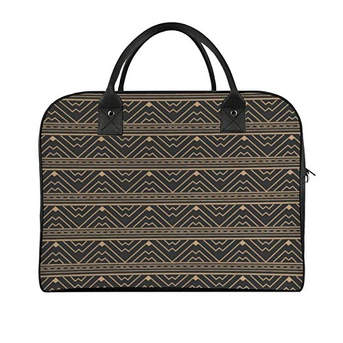 Yeuss Boys Travel Bags Briefcase Tribal Native American Aztec Pattern In Geometric Triangle Wave Ethnic Damask Print Women And Girls Handbag
