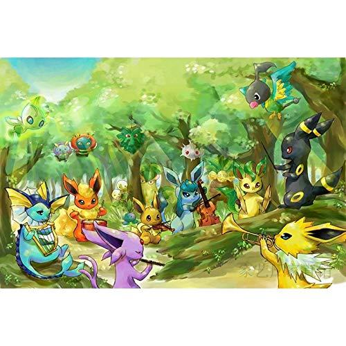 Pokémon wooden puzzle 300 pieces 500 pieces 1000 pieces Pokemon Pokemon children decompression gifts-1000 Pokémon 016_