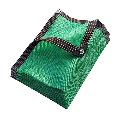 LLCY 90% Anti-UV Bloqueador de la Sombra de la Sombra,Tela de Sombra Terraza al Aire Libre Patio Garden Flowers Malla de sombreo (Color : Green, Size : 7x10m)