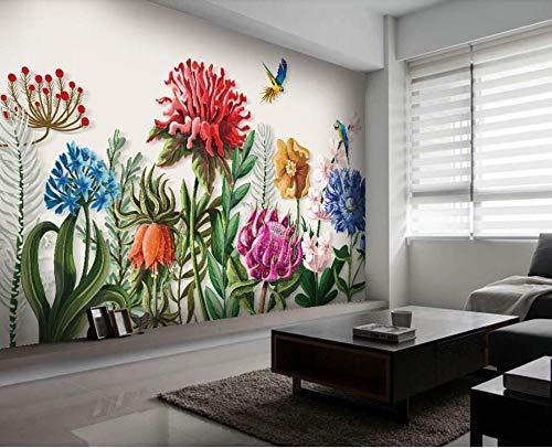 Tropisch bloemenbehang, regenwoud, fotobehang, doek, Papel De Parete, waterdicht, behang, papegaai, achtergrond make-up 250 x 175 cm.