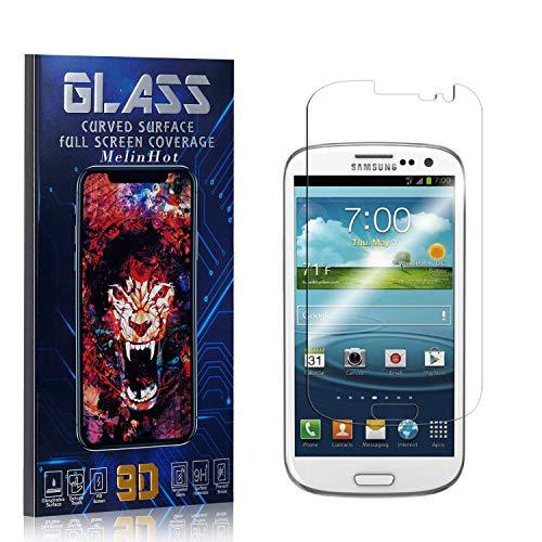 MelinHot Displayschutzfolie für Galaxy S3, Anti Fingerabdruck, Ultra Dünn Blasenfrei Schutzfolie aus Gehärtetem Glas für Samsung Galaxy S3, 4 Stück