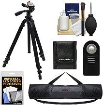 Slik 400 DX Pro Series Black Tripod 3Way Pan/Tilt Head & Quick Release with Tripod Case + ML-L3 Remote + Accessory Kit for Nikon D600, D3200, D5100, D7000, Series 1 J1, J2, V1, V2 Digital Cameras