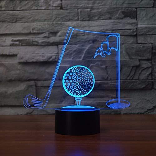 BaseballSchöner Schmetterling 3D Eishockey Lampe LED Nachtlicht mit Fernbedienung, 7 Farben Wählbar Dimmbare Touch Schalter Nachtlampe Geburtstag Geschenk