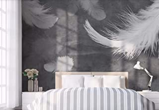 Wallpaper Wallpapers 3D Wallpaper Watercolor Luxury White Feathers Beautiful Decorative Wallpaper Kitchen Wallpaper Bathroom Wallpaper Bedroom Living Room Wallpaper