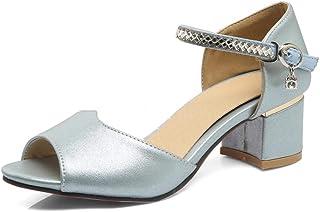 BalaMasa Womens ASL06272 Pu Block Heels
